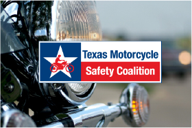 TMSC logo over motorcycle photo